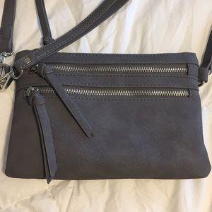 Grey Wristlet/Shoulder Bag